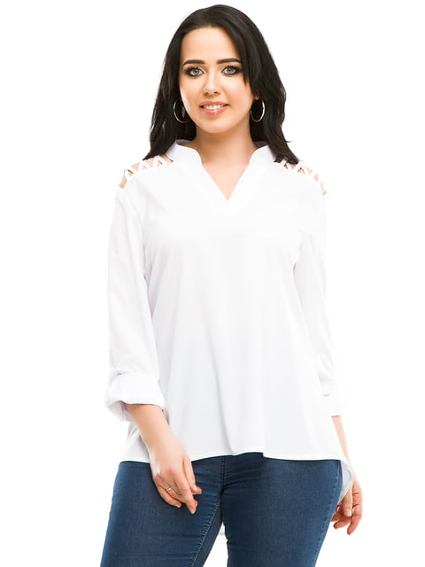Блуза белая Exclusive. 5010613