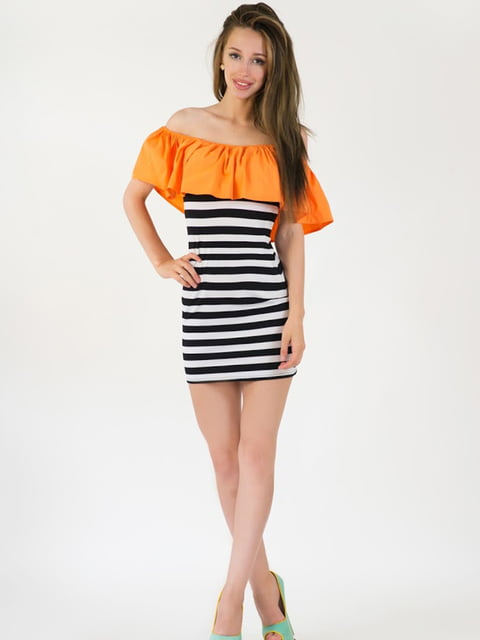 Платье оранжевое Podium 5035121