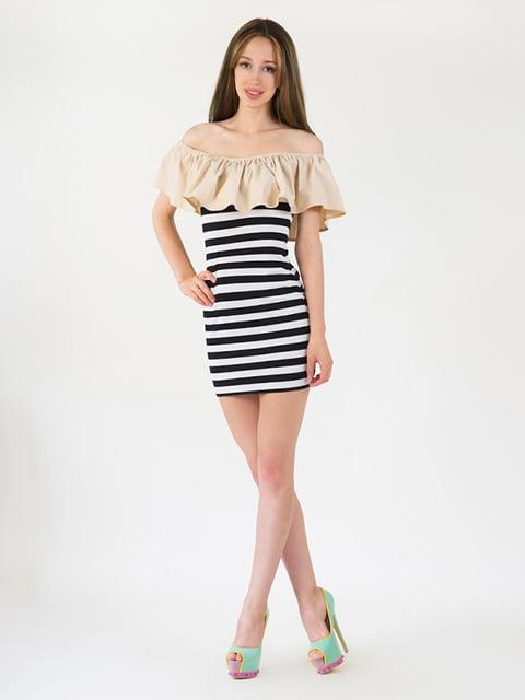 Платье бежевое Podium 5035122