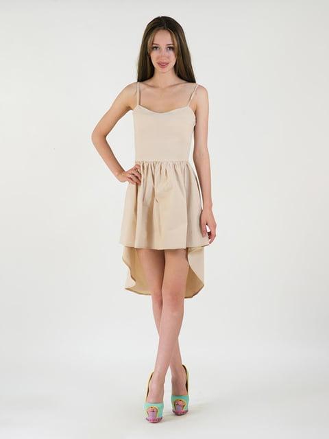 Платье бежевое Podium 5035194