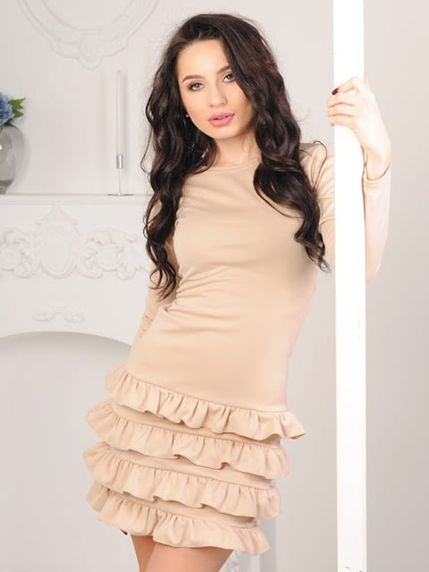 Платье бежевое Podium 5035462