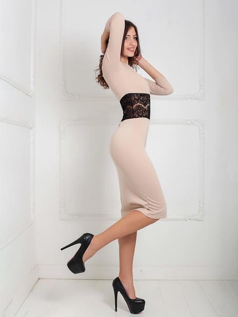 Платье бежевое Podium 5035554