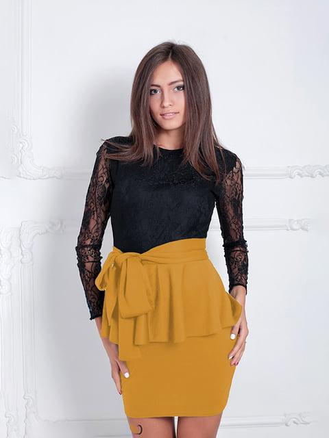 Платье горчичного цвета Podium 5035626