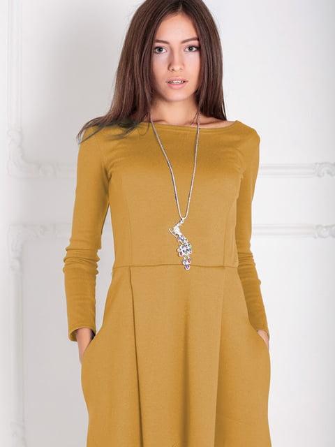 Платье горчичного цвета Podium 5035665