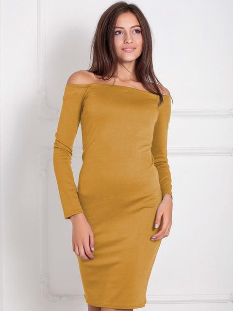 Платье горчичного цвета Podium 5035689