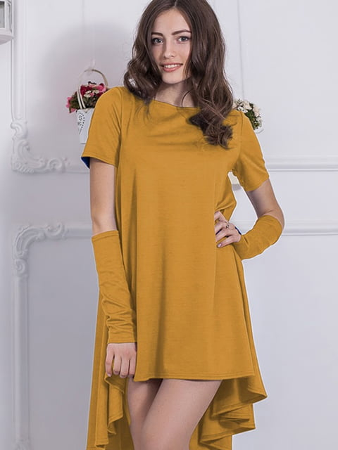 Платье горчичного цвета Podium 5035698