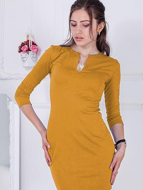 Платье горчичного цвета Podium 5035722