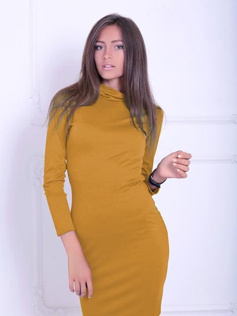 Платье горчичного цвета Podium 5035734