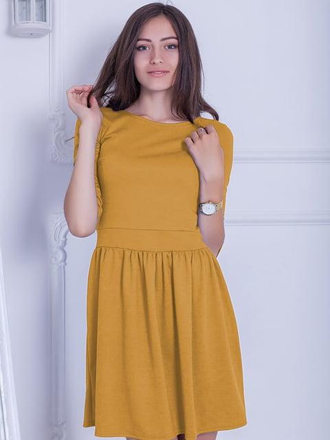 Платье горчичного цвета Podium 5035816