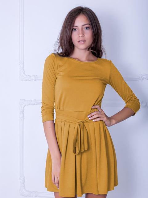 Платье горчичного цвета Podium 5035844