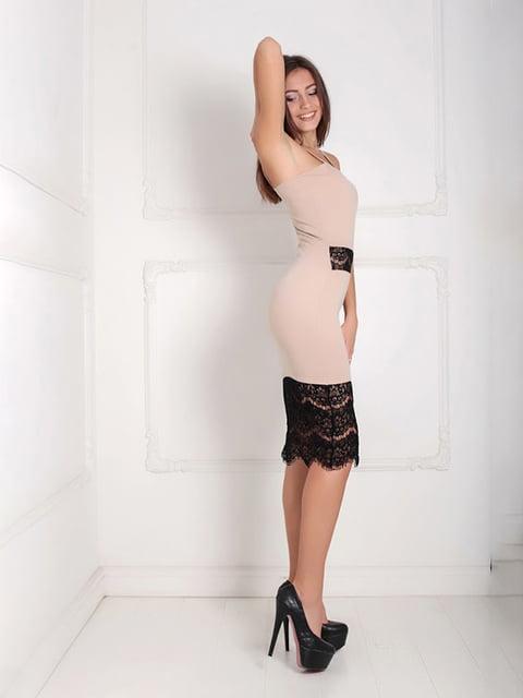 Платье бежевое Podium 5035896