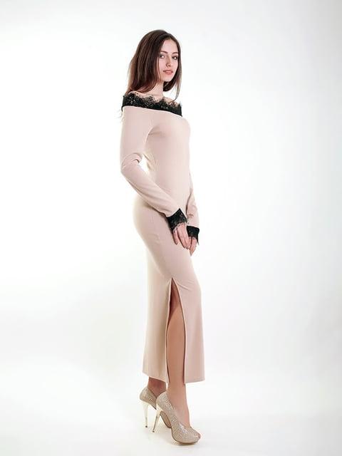 Платье бежевое Podium 5035901