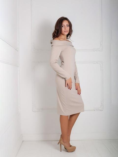 Платье бежевое Podium 5035989