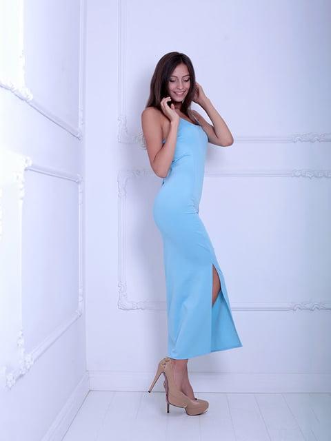 Платье голубое Podium 5036121