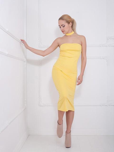 Платье желтое Podium 5036519