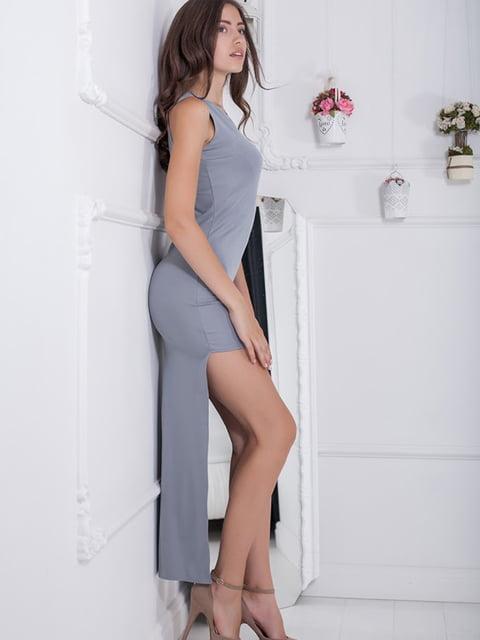 Платье серое Podium 5036548