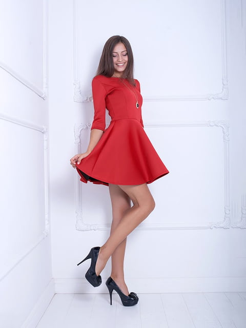 Платье красное Podium 5036789