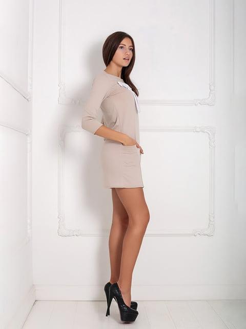 Платье бежевое Podium 5036870