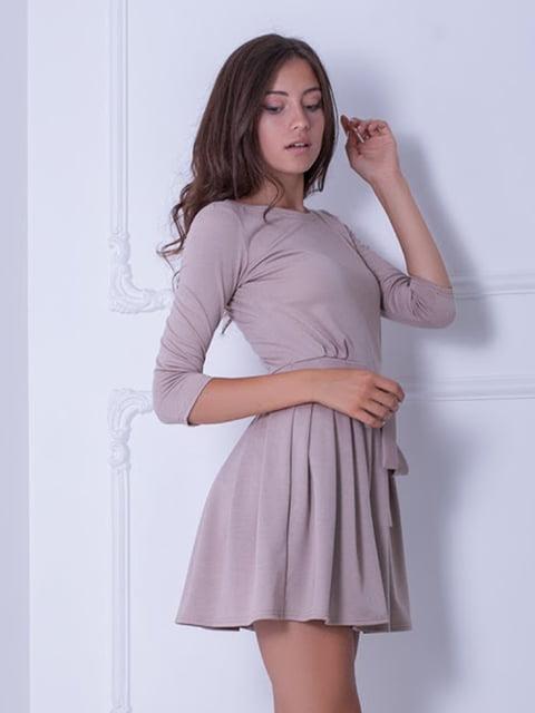 Платье бежевое Podium 5036974