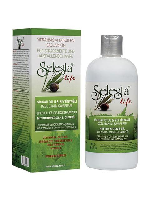 Шампунь «Интенсивный уход» с крапивой и оливковым маслом Selesta 4986493