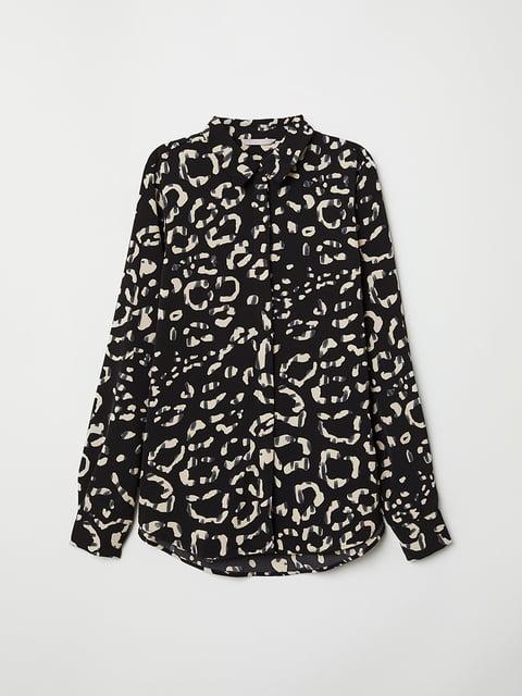 Блуза черная в принт H&M 5046967