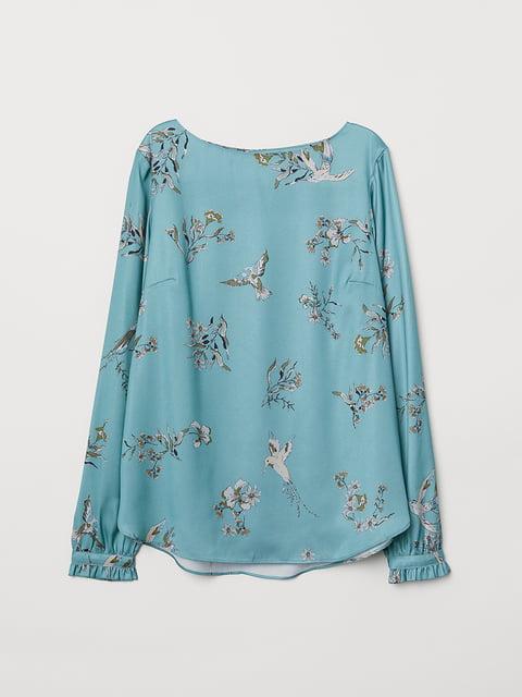 Блуза бірюзова в принт H&M 5046995
