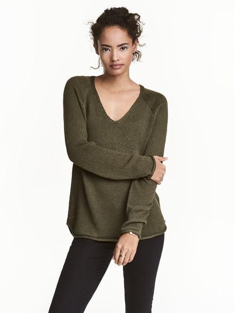 Пуловер зелений H&M 5044968