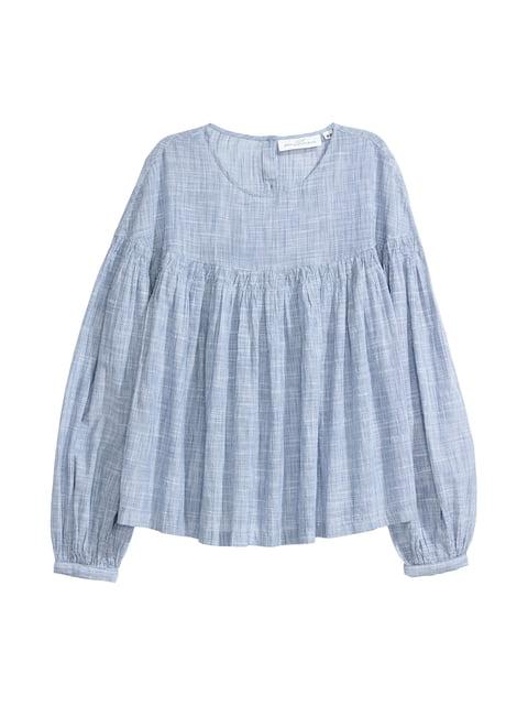 Блуза синяя H&M 5045639