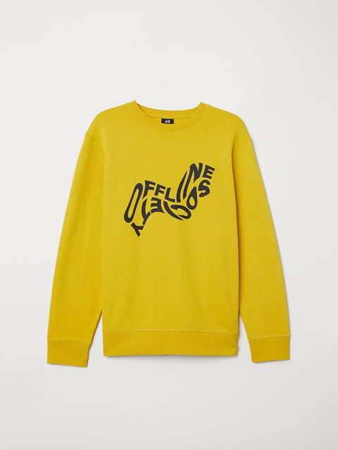 Свитшот желтый с принтом H&M 5046180