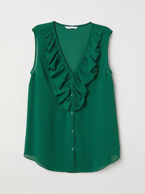 Блуза зеленая H&M 5046318