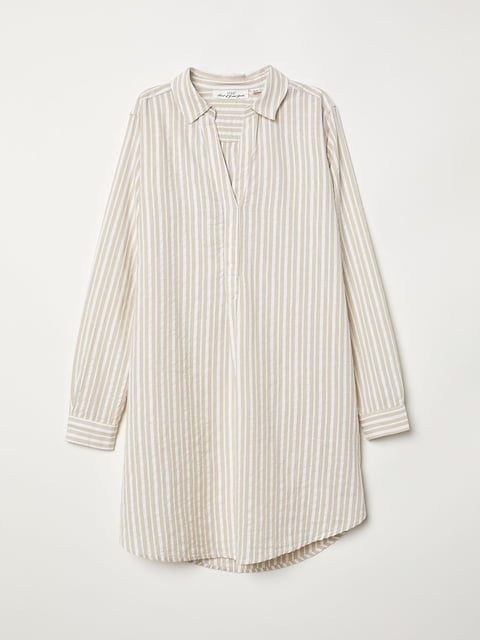 Рубашка бежевая H&M 5046346
