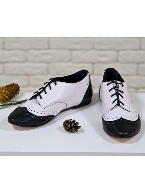 Туфлі чорно-білі Gino Figini 5044153