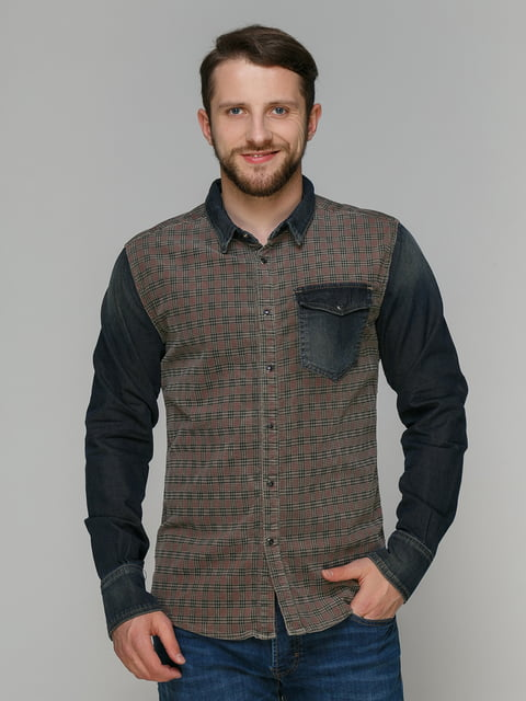 Рубашка комбинированной расцветки Einstein 4665285