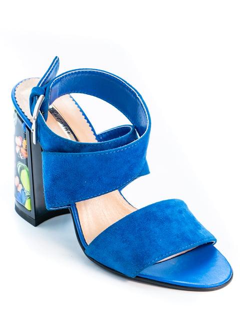 Босоножки синие Kluchini 5056915