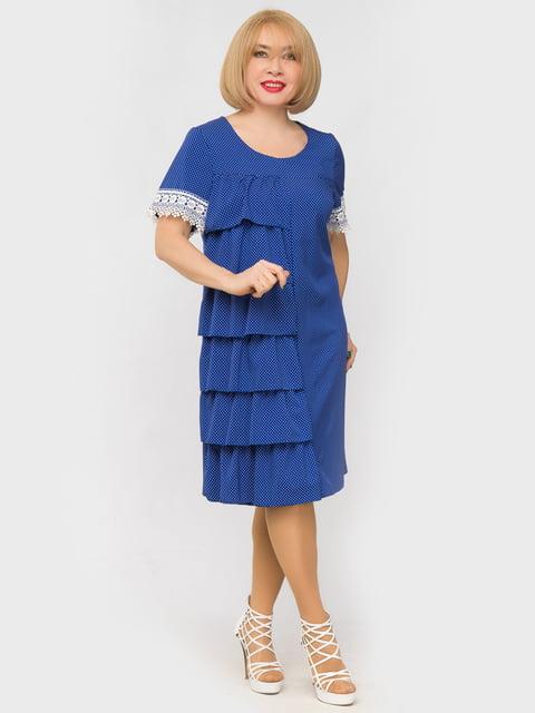 Платье цвета электрик в горох LibeAmore 5057271