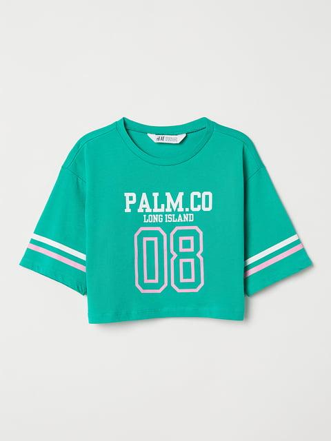 Топ зеленый H&M 5045945