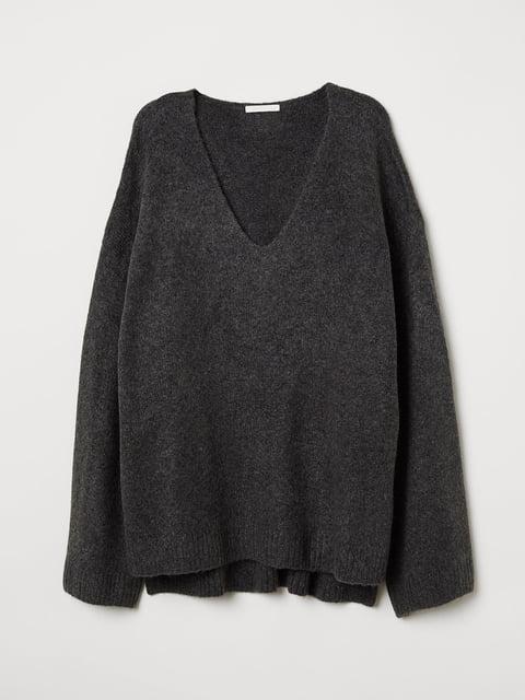 Пуловер серый H&M 5046540