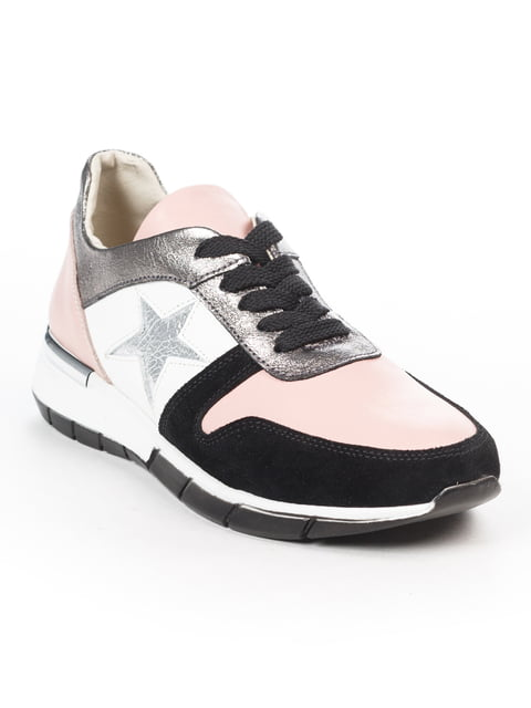 Кросівки рожево-чорні Fabiani 5048490