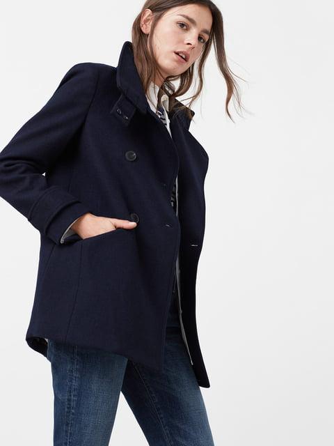 Пальто темно-синее Mango 5047460