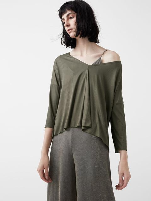 Блуза цвета хаки Mango 5065146