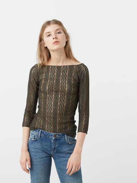 Блуза цвета хаки Mango 5065178