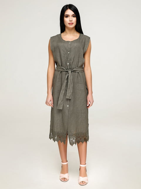 Платье цвета хаки Favoritti 4917530