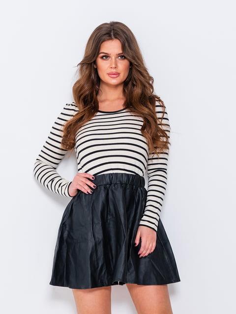 Сукня чорна зі смужками Magnet 4950815