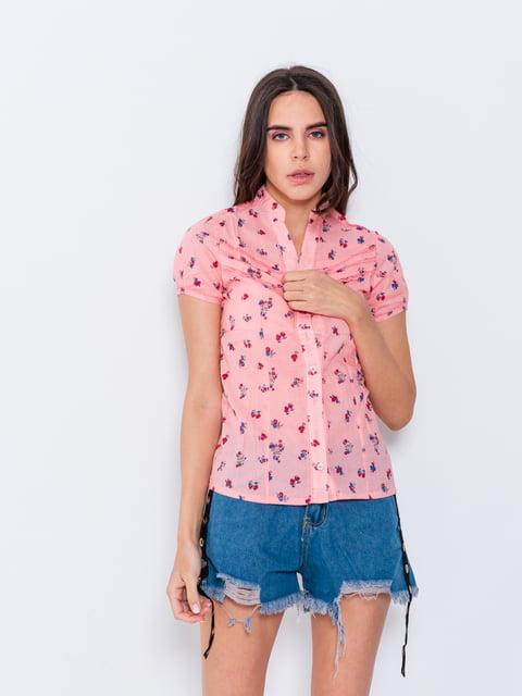 Рубашка персикового цвета в принт Magnet 5044785