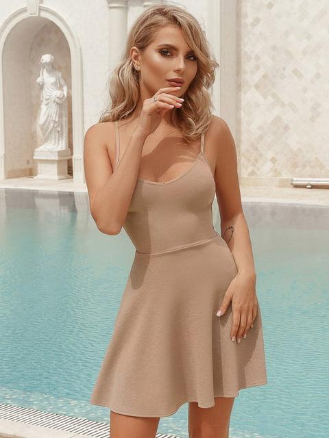 Платье бежевое Gepur 5069097