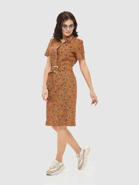 Сукня коричнева в принт Mila Nova 5075487