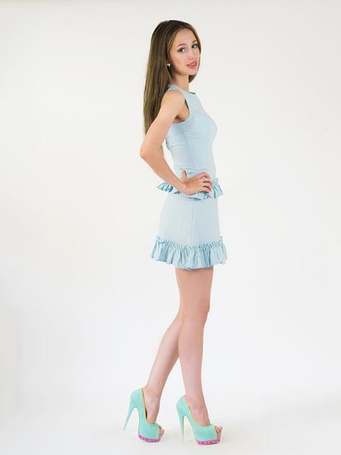 Платье голубое Podium 5035197