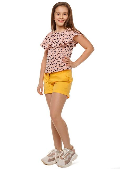 Блуза розовая с принтом Tashkan 5080160