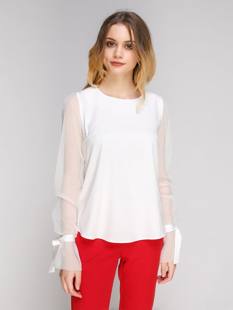 Блуза молочного цвета Zubrytskaya 5077693