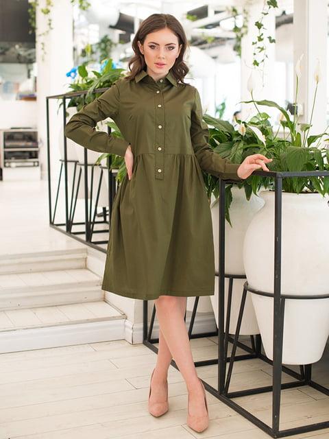 Сукня кольору хакі ELFBERG 5081855